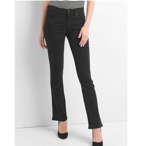 NWT Gap Mid Rise Perfect Boot Jeans 29 Black v799